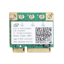 New For Intel WIFI Link 5300 AGN 533AN_HMW 802.11n Dual Band 450Mbps Wireless PCIe 2.4Ghz 5Ghz Half Size Mini PCI-E Wlan Card