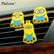 Cartoon Car Styling Mini  Despicable Me minions Style  Air Freshener Perfume for Car Air Condition Vent  MInions Boss