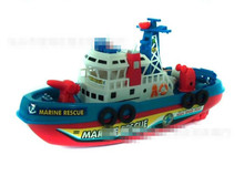 Fire Boat Electric Boat Model Children electric toy Boat navigation Non-remote warships at sea(China)