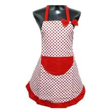 2017 New Cute BowKnot Women Kitchen Restaurant Bib Cooking Aprons With Pocket Drop Shipping Apr28