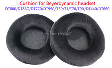Flannelette earmuffs replacement cover for Beyerdynamic HiFi headphones studio Professional headset ( Ear pads/Headset cushion)