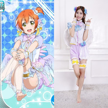 New Arrival Japanese Anime Love Live Cosplay Rin Hoshizora Halloween Costumes For Woman Angel Wing Lolita Dresses In Stock QZ007