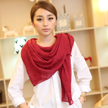 New arrival 2017 solid color veil scarfs spring and autumn women's solid color Solid cotton scarf free shipping