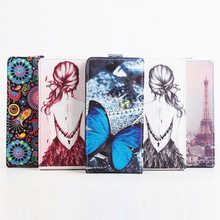5 Painted Types Up Down Open Typesful Flip Leather Phone Case For JIAYU S3 Plus MT6752 MTK6753 5.5 Inch Android Cell Phone(China)