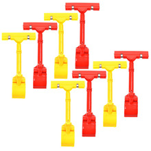 8pcs POP Adjustable Plastic Clip-on Style Merchandise Sign Display Clip Holder (Red&Yellow)(China)