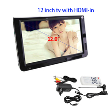LEADSTAR Portable DVB-T-T2 12.1 Inches Rechargeable Digital Color TV Television Player TFT-LED Screen HDMI USB MMC AV AUX TV