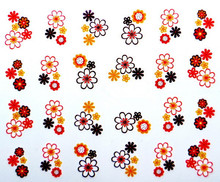 Water Transfer  Nail Art Stickers Decal Beauty Colorful Sunflowers Design French Manicure Decorative