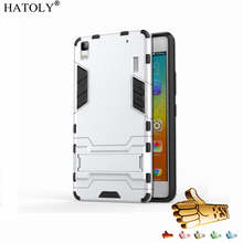 HATOLY Armor Case Lenovo A7000 Shockproof Robot Hybrid Silicone Rubber Hard Back Cover K3 Note K50-T5 5.5 inch - Mobile Phone Cases World Store store