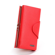 Long Women Messenger Bags Women Bag Wallet Red Woman Leather PU Hasp Red Leather Purse Fashion Solid Long Wallet Women 2017 Hot