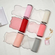 Women Lace Gauze Chiffon Scarf Solid Tie Scarves Neckcloth Headband Bow Tie Woman Elegant Cravat Long Scarf(China)