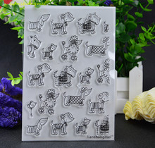 Many lovely dogs Transparent Clear Silicone Stamp/Seal for DIY scrapbooking/photo album Decorative clear stamp