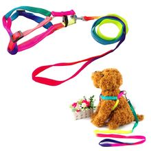 Puppy Kitten Walking Puppy Neck Wire Pet Leash Nylon Strap Lead Rope Rainbow Color