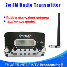 Genuine FU-7C 7W FM Transmitter radio broadcast+Short antenna+Power supply Complete Set