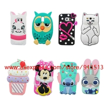 Owl Cat Lips Stitch Minnie Hello Kitty Cupcakes Panda Batman Pig 3D Case Cover For Samsung Galaxy S3 S4 S5 S6 S7 Edge Plus(China)