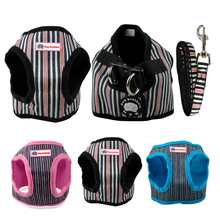 Cute Soft Puppy Small Dog Harness and Walking Leash Leads Set 4 Sizes 6 Colors S M L XL(China)