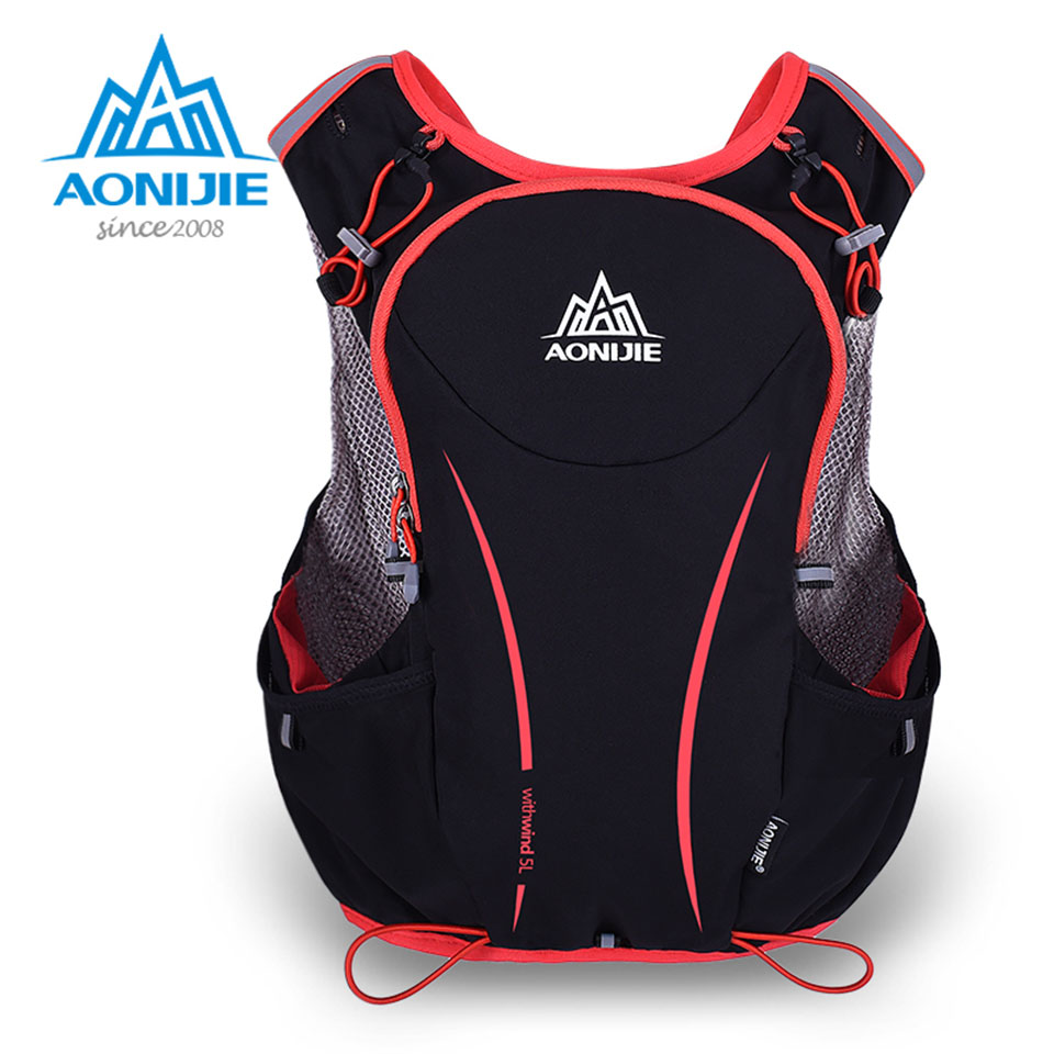 AONIJIE 5L Running Backpack Kettle Package Marathon Cycling Bags Running Vest Kettle Sport Bag Waterproof Nylon Bag<br>