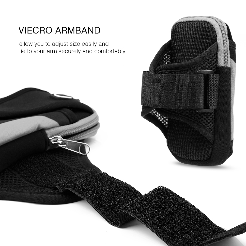 Case For Phone On Hand Universal Sports Armband Case Zippered Fitness Running Arm Band Bag 5.5 Inch Pouch For Mobile Phone SALE (5)