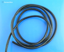 Doreen Box Lovely Black Round Real Leather Jewelry Cord 3mm 10M length (B03278)(China)