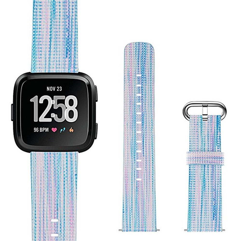 1Pcs Nylon Replacement Sport Wristband Wrist Band Strap For Fitbit Versa Wristband Colorful For Outdoor Sports Accessories