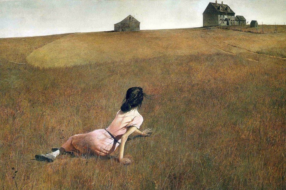 Wyeth Andrew Christina's World contemporary top painter oil painting works Free delivery paintings for living room wall(China (Mainland))