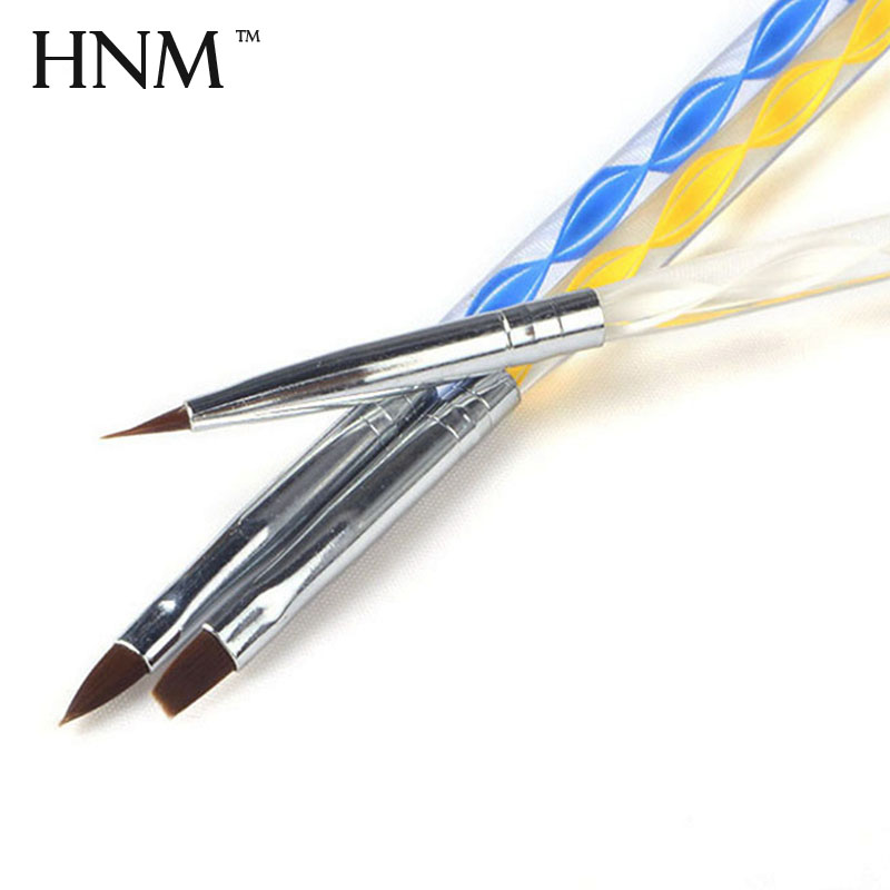 HNM 3pcs Nail Art DIY Design Painting Drawing Brush Pens Gel Nail Polish Design Set Kit UV Gel Polish Acrylic Painting Pen Brush(China)