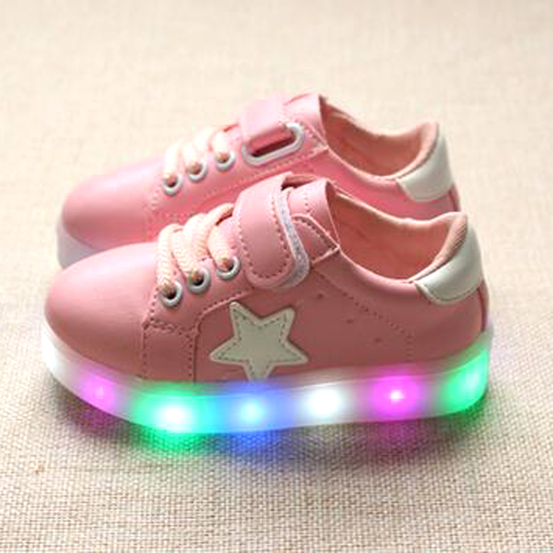 10 Size Led Luminous Shoes For Boys Girls Fashion Light Up Casual Kids Outdoor New Simulation Sole Glowing Children Sneaker<br><br>Aliexpress