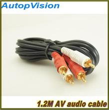 1.2M 2 to 2 RCA cable AV speaker extention connecting line audio video TV DVD cable(China)
