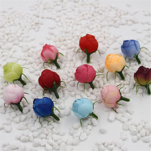 10pcs fake flowers simulation flowers small silk roses tea bags DIY handmade wedding decoration balls wedding corsage flowers(China)