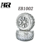 EB1002 Big foot tire 2 truck tires wheel suitable for RC car 1/10 JLB Race speed card electric four-drive remote control car(China)
