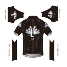 2017 new cartoon cycling jersey short sleeve black funny cycling shirt novelty Wolf bike jerseys pro Custom jersey(China)