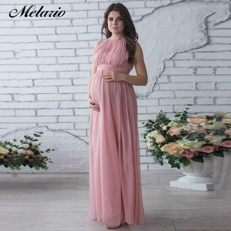 a593042e7 Melario vestido de maternidad 2019 embarazo ropa embarazada mujer elegante  Vestidos de fiesta de encaje vestido