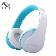 TTLIFE Nx-8252 Bluetooth Headphone With Mic Wireless Cordless Handset Stereo Audio Music Headphone For phones Android Smartphone(China)