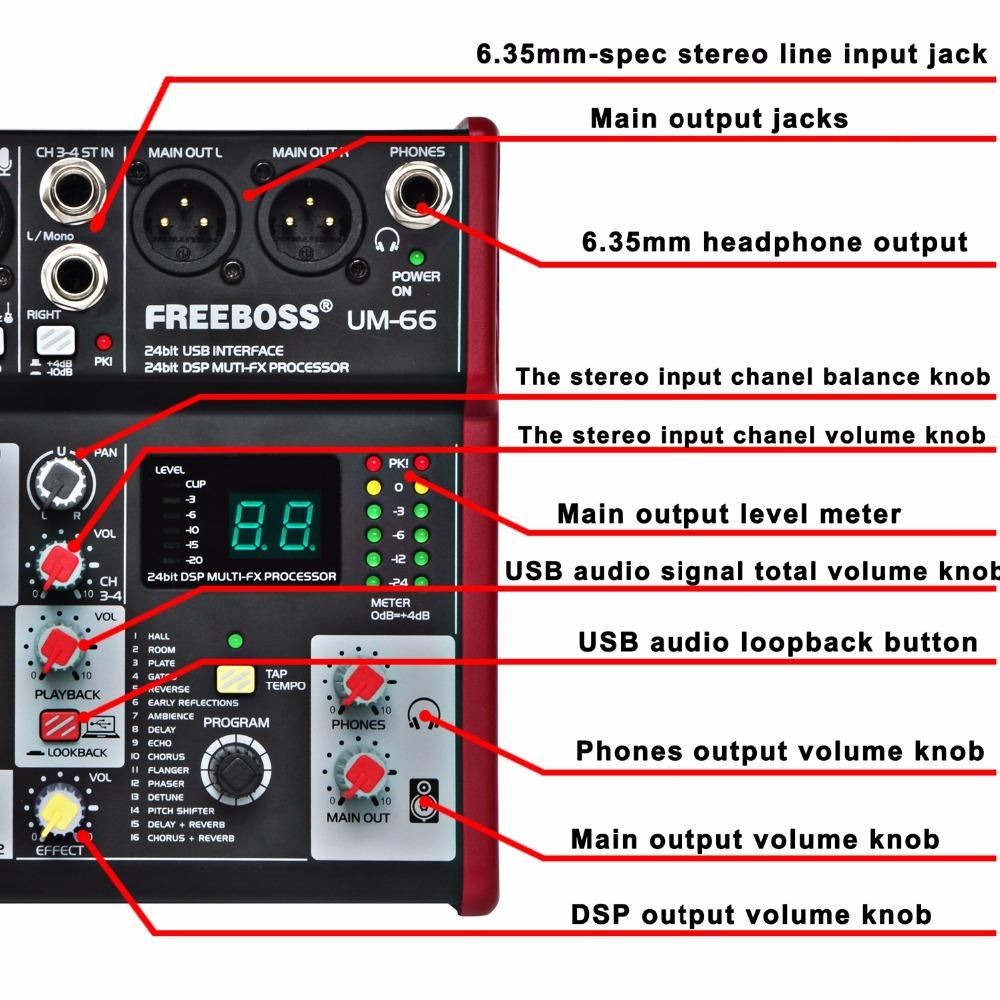 UM-66  16  Audio Mixer