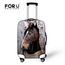 Hot 3D Horse/Donkey Elastic Waterproof Travel Luggage Sets Protective Cover For 18-30 Inch Suitcase Dust Rain Covers Accessories(China)