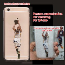 custom made Curry Phone Case for iphone 5s 5 6 7 6s se 6s plus 7 plus Coque basketball Star Transparent Silicon tpu for Samsung