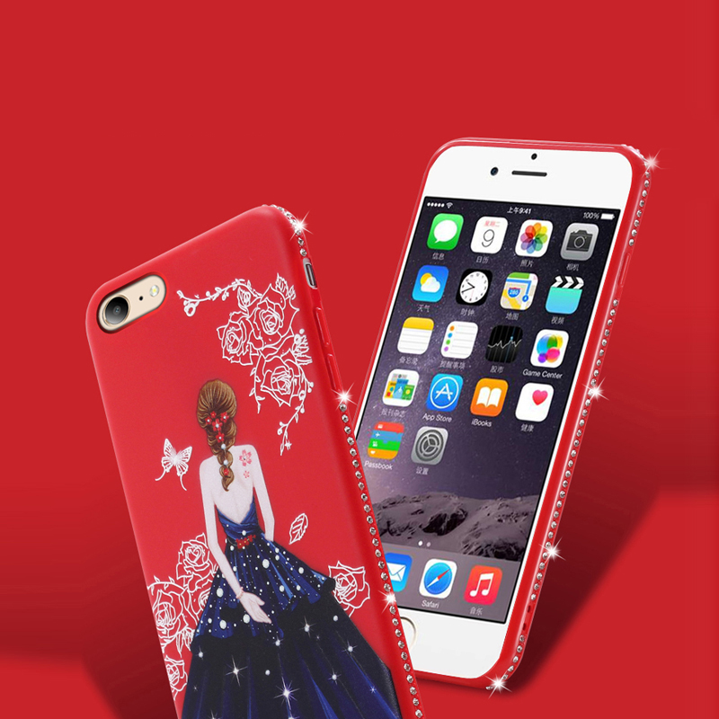 dress girl silicone case iphone 6 s 7 8 plus (7)