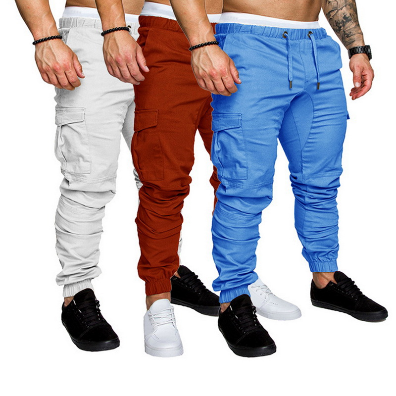 Men Pants Trousers Overalls Joggers Casual-Pockets Hip-Hop Male Camouflage Plus-Size title=