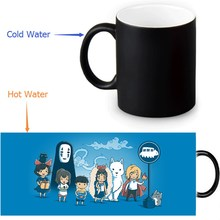 350ml Spirited Away Color Transforming Mugs Coffee Milk Ceramic Morphing Mug Novelty Heat Changing Color Tea Cup(China)