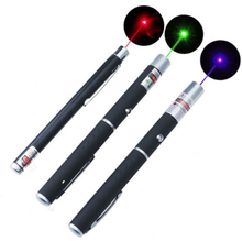 High Quality Red/Green/Blue Laser Pointer 5mW Powerful Laser Pen Professional Lazer pointer With 2*AAA Battery For Teaching(China)