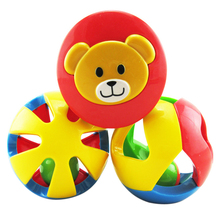 3Pcs Plastic Kids Baby Toys Jingle Ball Rattles Rolling Ball Ring Bell Grasp Toy Intelligence Toys for Newborns Children Toddler(China)