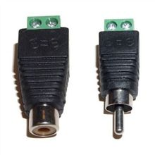 5Pairs CAT5 To Camera CCTV Video Balun RCA female+male jack AV Screw Terminal Connector, RCA MF to terminal Block
