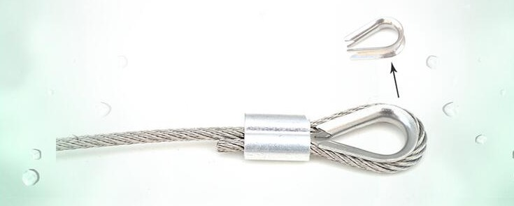 10 pcs Anndason M10 304 SS Thimble for 3//8 M10 10mm Diameter Wire Rope Cable Thimbles Rigging