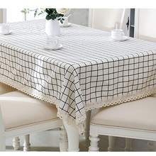 New Modern Geometric Theme Tablecloth 90*90-150*200cm Vintage Table Cloth Home Decor White/Black/Gry Table Cover For Party