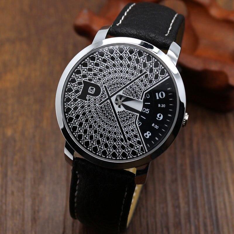 TOP Luxury Watch Men Black Leather PU band wristwatch Business para Hombre Black relogio masculino Montre Quartz<br><br>Aliexpress