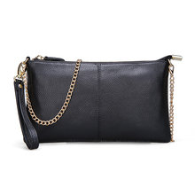 15 Color Genuine Leather Women's Bag Designer High Quality Clutch Fashion Women Leather Handbags Chain Shoulder Bags for women(China)