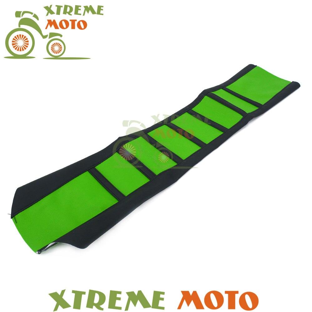 Green Rubber Vinyl Gripper Soft Seat Cover For Kawasaki KX100 KX125 KX250 KX250F KX450F KLX450R KLX125 Motorcycle Dirt Bike<br>