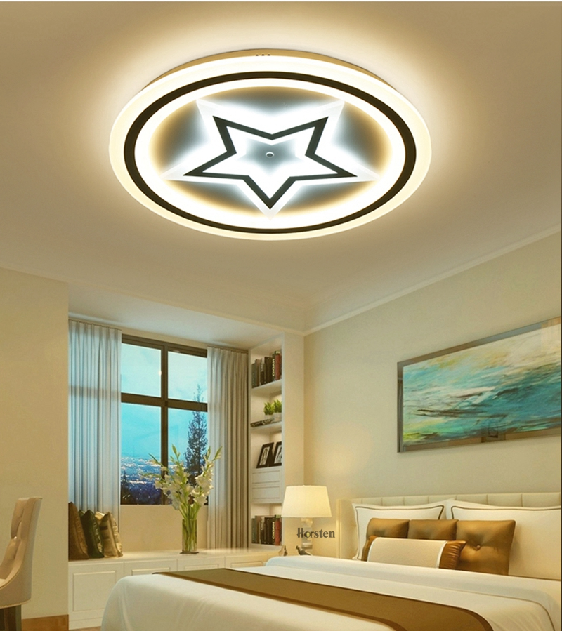 Modern Acrylic LED Ceiling Lights For Living Room Bedroom 50cm 60cm 80cm Simple Star Design Ceiling Lamp With Remote Control 220V (15)