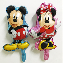4pcs Small Size Balloons Birthday Party Baby Boy Girl Foil Balloons Pink Blue Mickey Minnie Party Supplies Air Toy Globos Balony