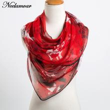 new fashion scarf women upscale georgette silk feeling oblong ladies scarf building and letters print scarves for women wraps