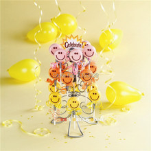 2014 New Swirly Lollipop Holder Cake Pop Holder Lollipop Stand Display Stand 3-Tier Holding 18 Cake Pops(China)